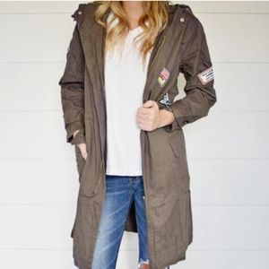 Military Inspired Long Jacket